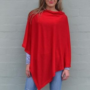 CHIC DOLLZ Red Light Knit Sweater Poncho